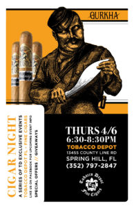 Gurkha Cigar Night in Spring Hill