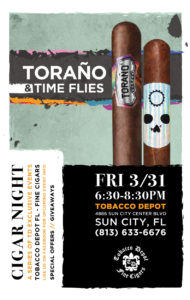 TORAÑO & TIME FLIES CIGAR NIGHT IN SUN CITY
