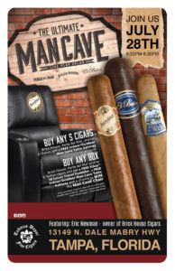 Brickhouse Cigars Mancave Giveaway Event in Tampa