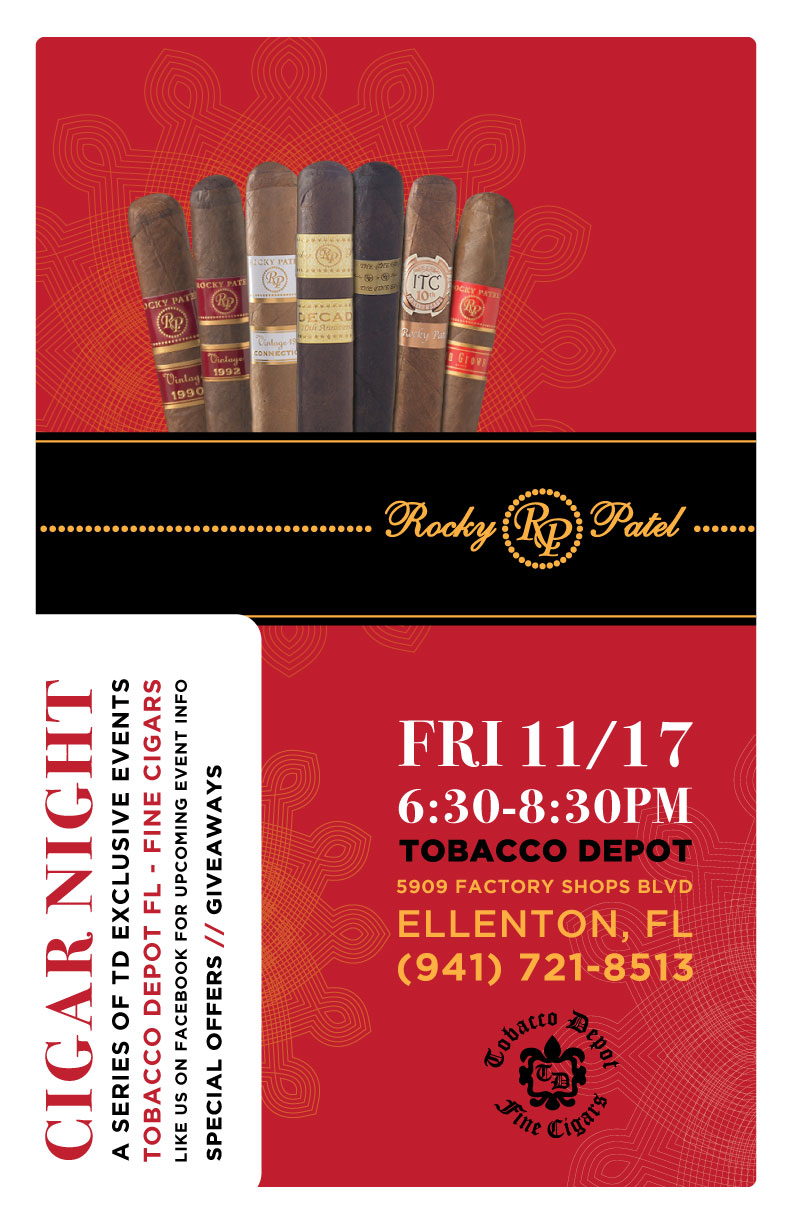 Rocky Patel Cigar Night in Ellenton