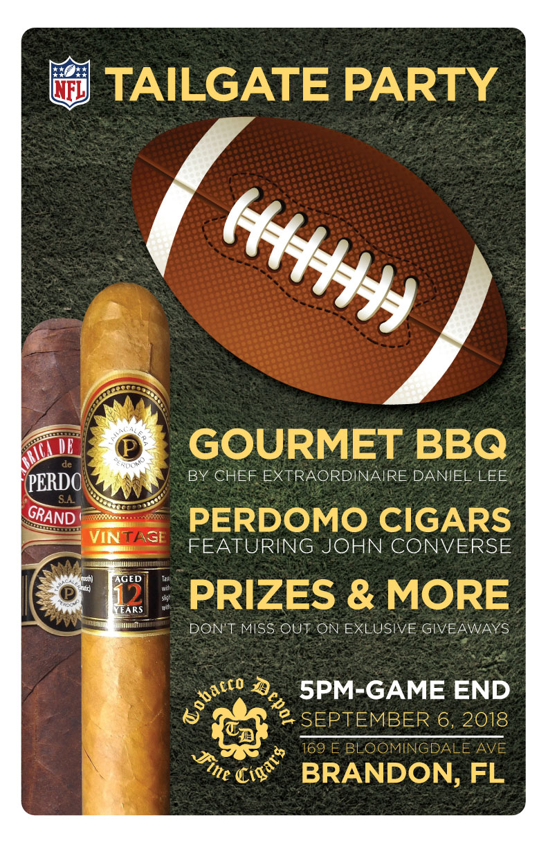 NFL Opening Game Perdomo Cigars Tailgate Party in Brandon