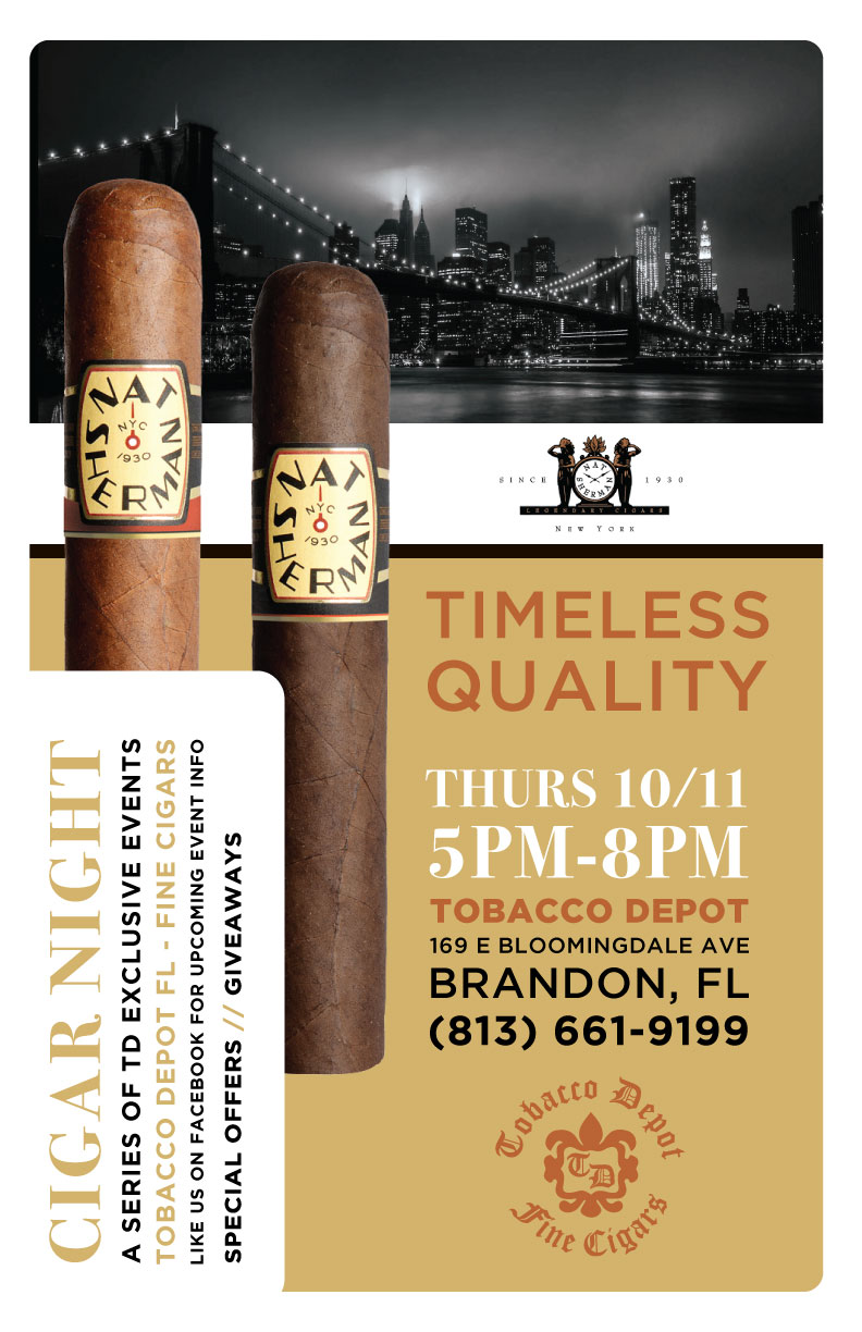 Nat Sherman Cigar Night in Brandon