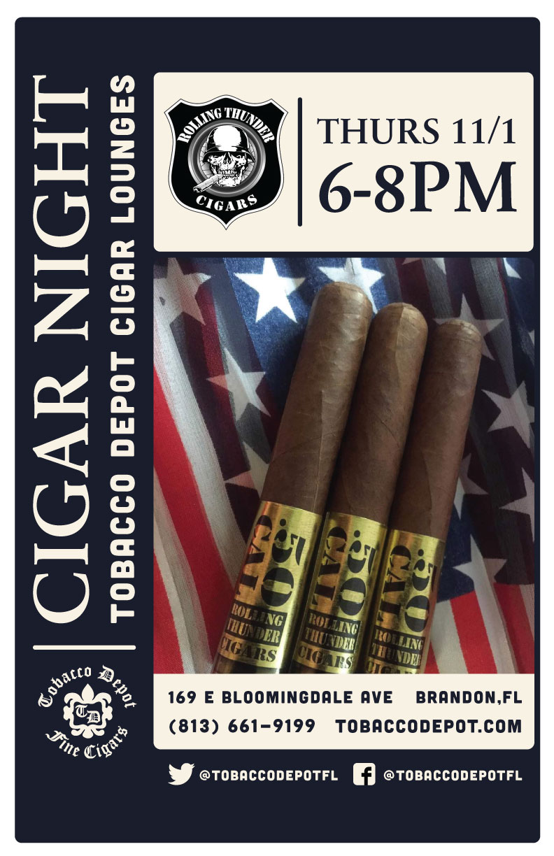 Rolling Thunder Cigars Cigar Night in Brandon
