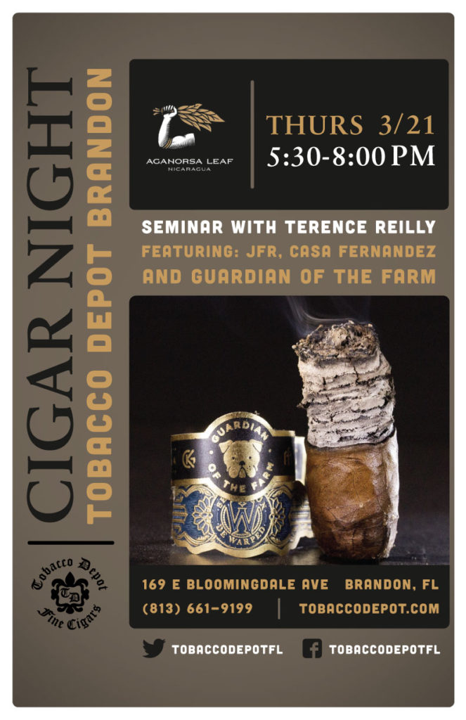 Aganorsa Cigar Seminar with Terence Reilly