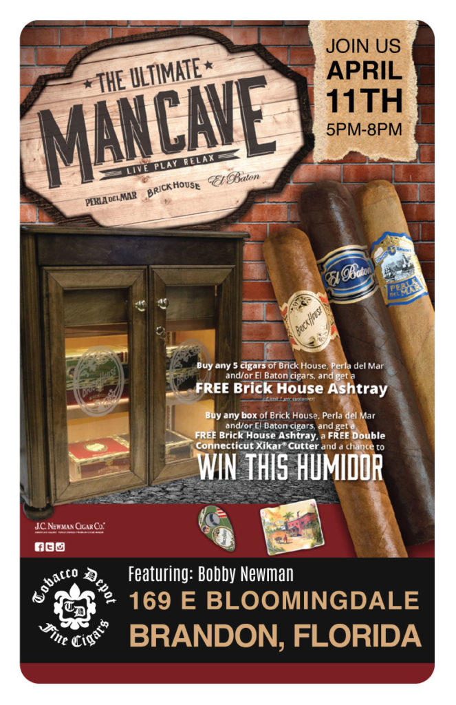 Tobacco Depot Brandon Reopening Anniversary With J.C. Newman Cigar Night Featuring Bobby Newman