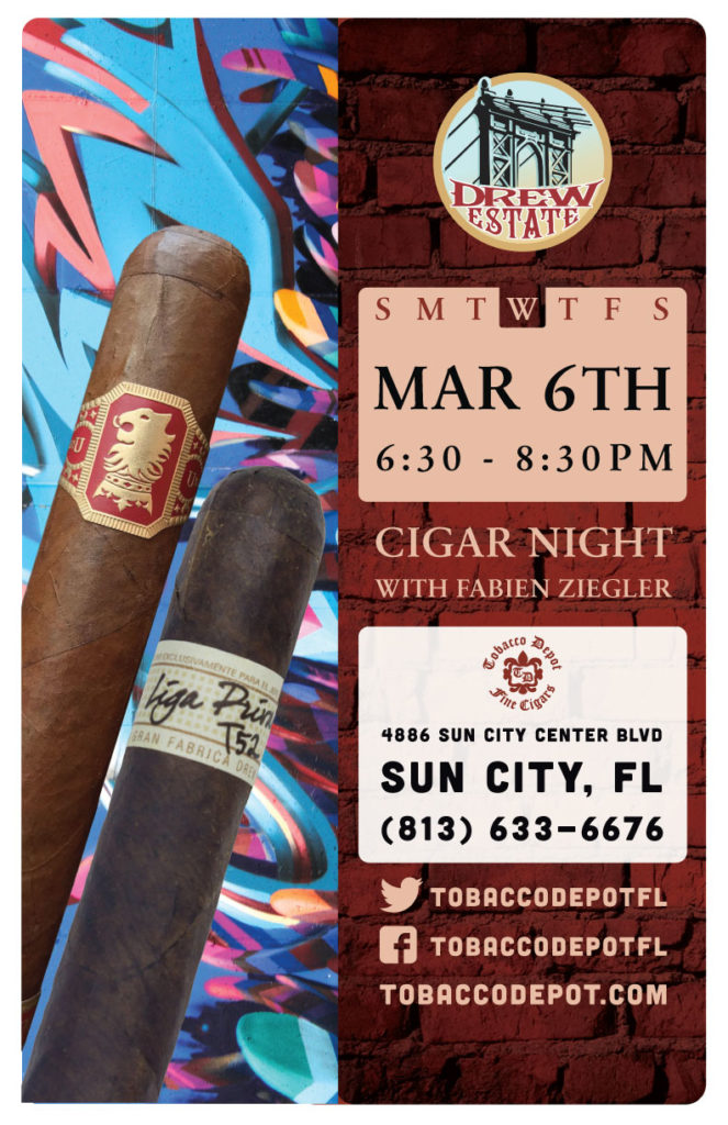 Drew Estate Cigar Night in Sun City Featuring Fabien Ziegler