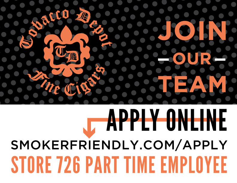 Now Hiring: Part Time Employee At Tobacco Depot Ellenton