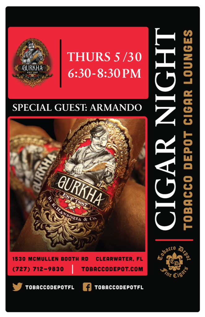Gurkha Cigars- 5/30 at Clearwater TD
