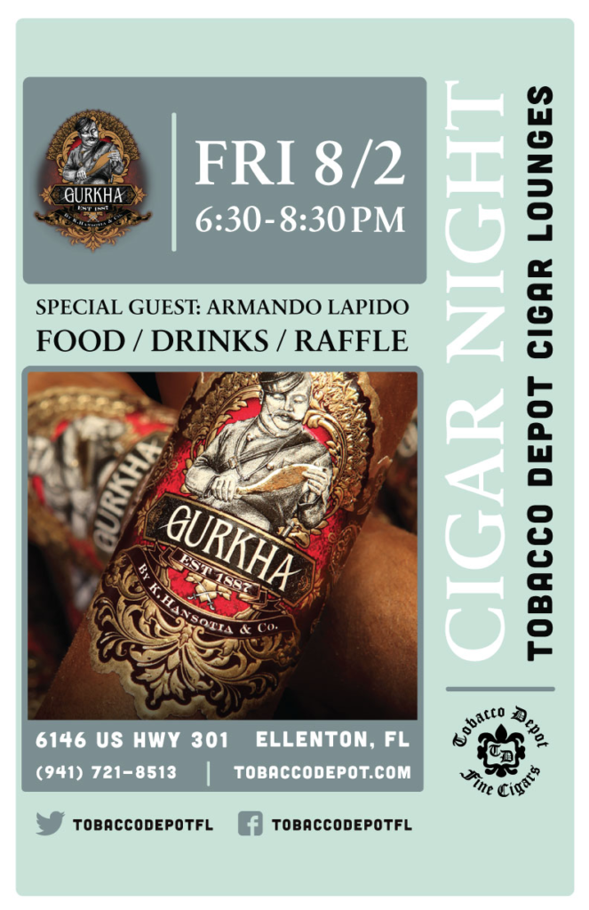 Gurkha Cigar Night in Ellenton