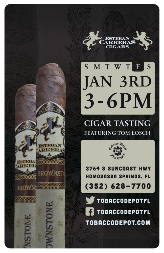 Esteban Carreras Cigar Tasting in Homosassa Springs Featuring Tom Losch // Fri 1/3 3pm-6pm