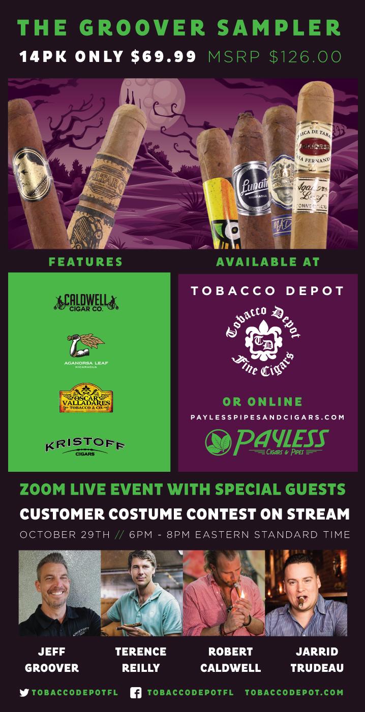 The Groover Sampler 14PK Cigar Deal At Tobacco Depot & Zoom Live Event
