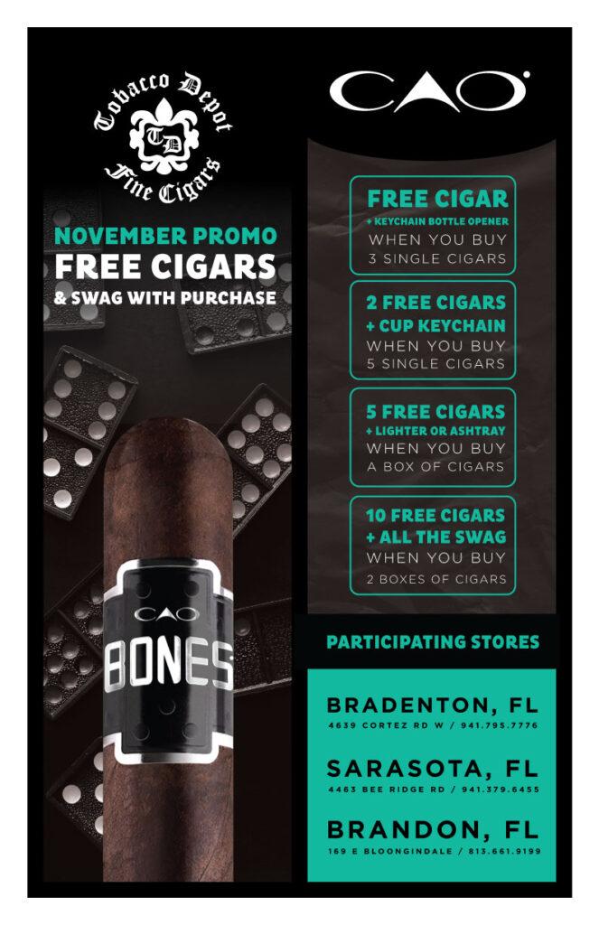 CAO Bones Promo Starts November 1st AT Select Stores