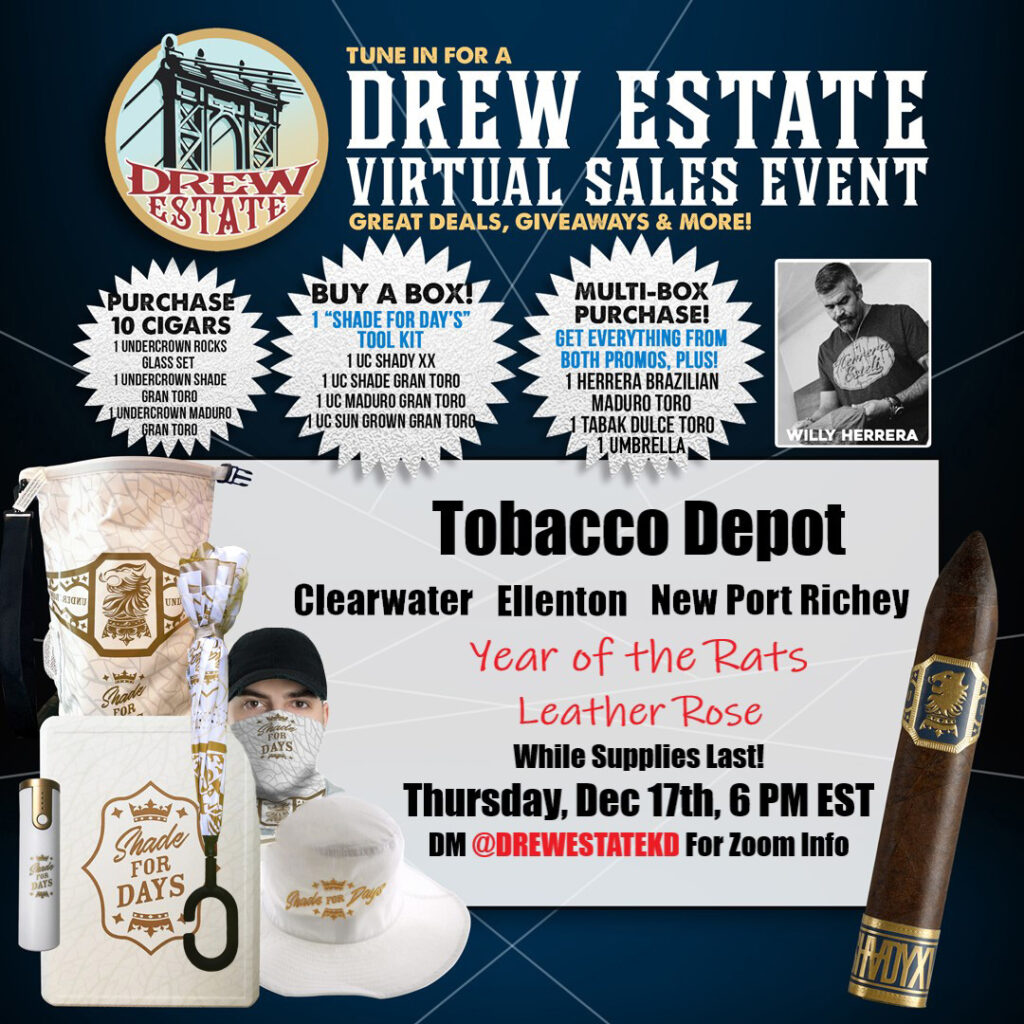 Tobacco Depot Exclusive🔥Drew Estate Virtual Sales Event & Deals
