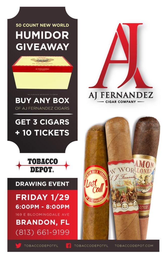 AJ Fernandez🎟️ Humidor Giveaway in Brandon on Friday 1/29